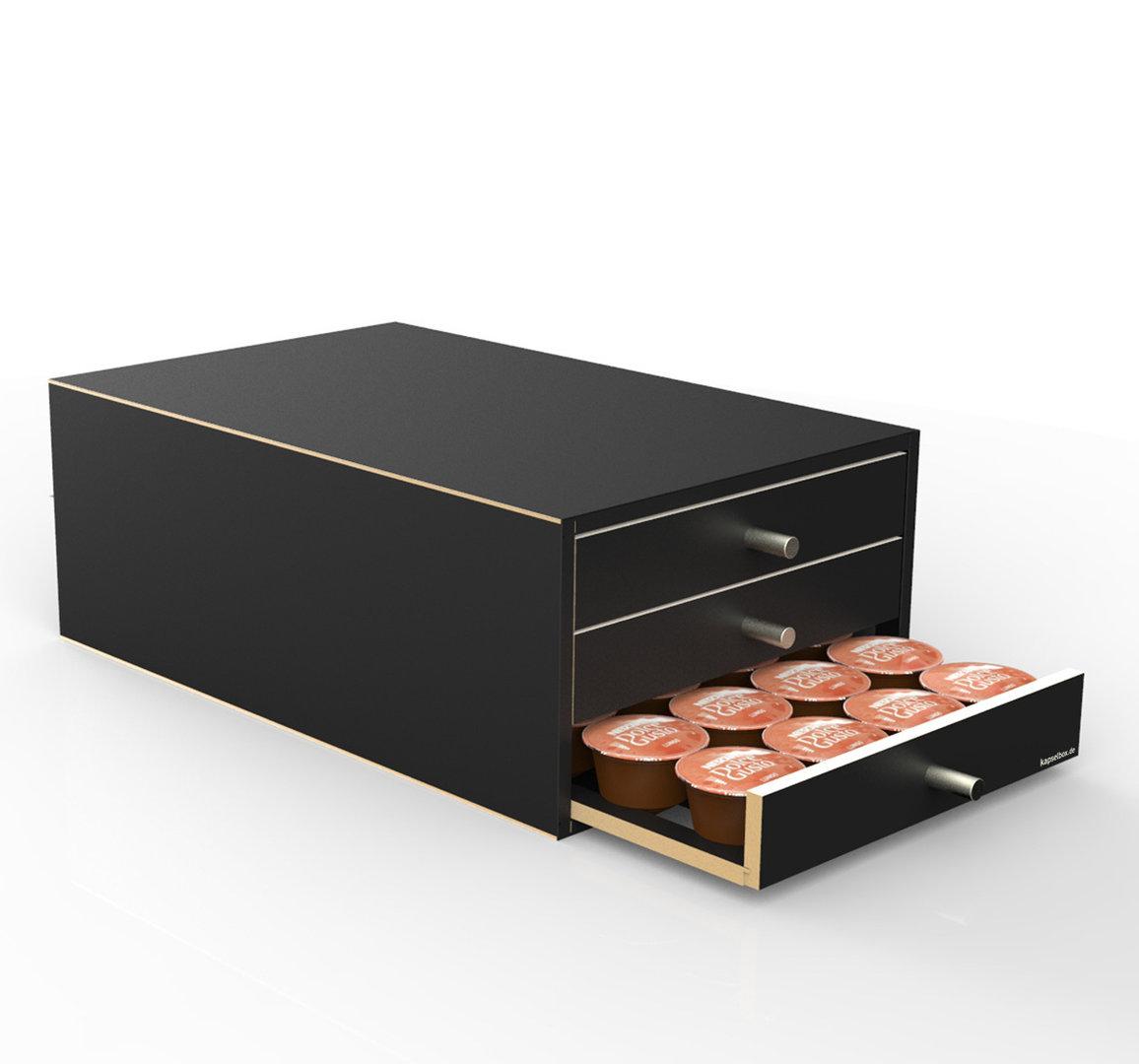 kapselspender mit 3 schubladen f r 72 dolce gusto patronen. Black Bedroom Furniture Sets. Home Design Ideas