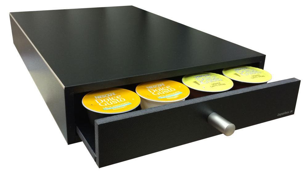 kapselspender f r 24 dolce gusto kapseln schwarz. Black Bedroom Furniture Sets. Home Design Ideas
